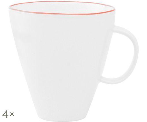Tazza da caffè Abysse, 4 pz., Bianco, rosso