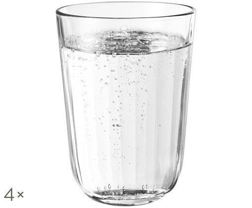Szklanka do wody Facette, 4 szt., Transparentny