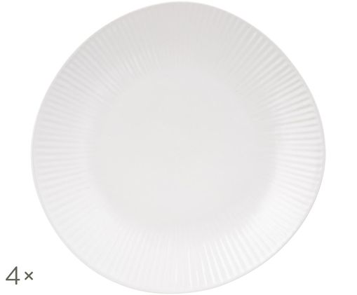 Piatti da dessert fatti a mano Sandvig, 4 pz., Bianco latteo