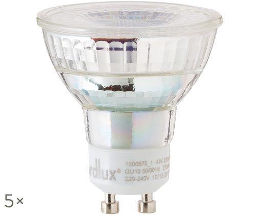 Ampoules à LED Ferre (GU10-4W) 5 pièces, Transparent