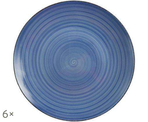 Piatto da colazione Baita, 6 pz., Blu