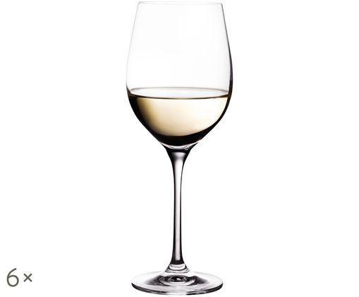 Copas de vino blanco de cristal Harmony, 6uds., Transparente