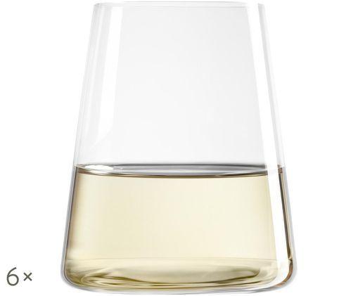Vasos de cristal Power, 6uds., Transparente