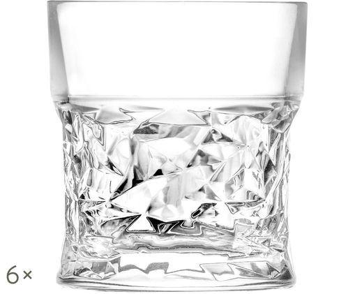 Kryształowa szklanka do whiskey Bicchiero, 6 szt., Transparentny