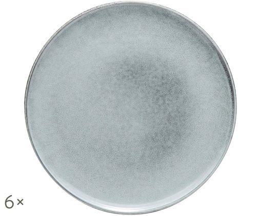 Assiette à dessert Relic, 6pièces, Bleu-gris