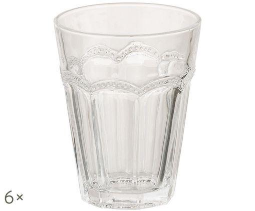 Komplet szklanek do wody Floyd, 6 szt., Transparentny