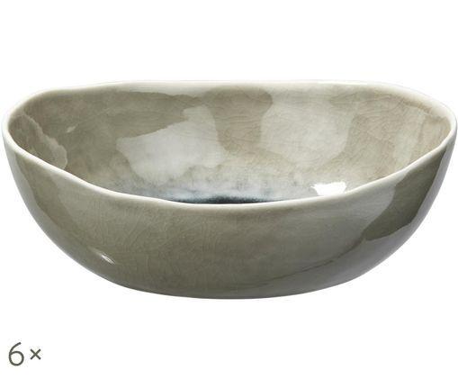 Ciotole Porcelino Sea, 6 pz., Verde grigio, Beige