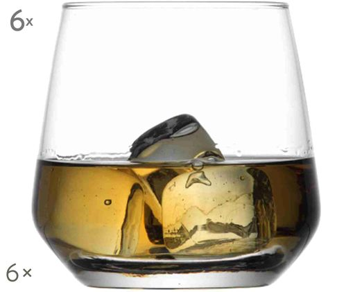 Szklanka do whisky Werno, 6 szt., Transparentny
