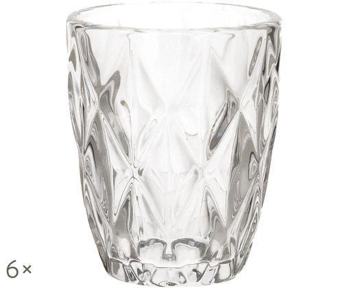 Szklanka do wody Diamond, 6 szt., Transparentny