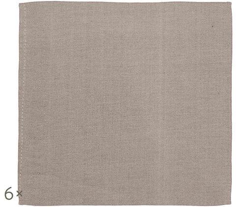 Servilletas de tela Amadeus, 6uds., Marrón grisáceo