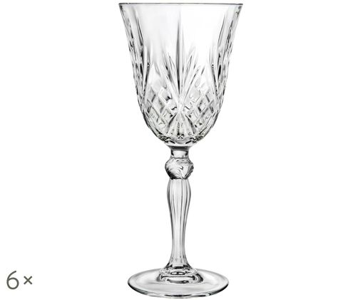 Bicchieri per vino rosso in cristallo  Melodia, 6 pz., Trasparente