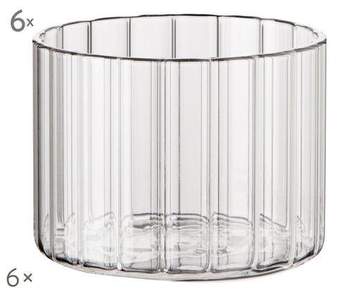 Szklanka do wody Romantic, 6 szt., Transparentny