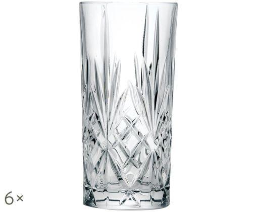 Kryształowa szklanka do drinków Melodia, 6 szt., Transparentny