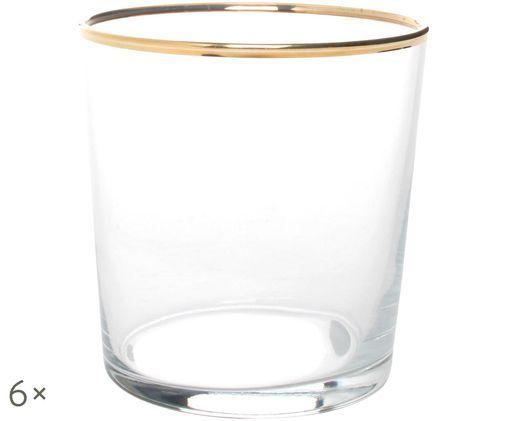 Szklanka Elegance, 6 szt., Transparentny