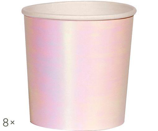 Tazza senza manico di carta Iridescent, 8 pz., Rosa