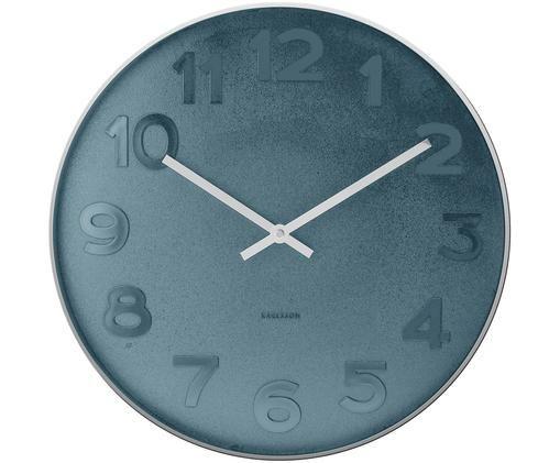 Orologio da parete Mr. Blue, Quadrante: blu Cornice, puntatore: argento