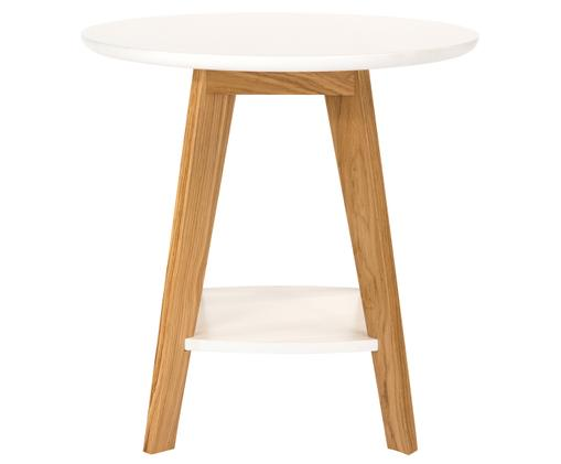 Table d'appoint style scandinave Kensal Nordic, Blanc, brun