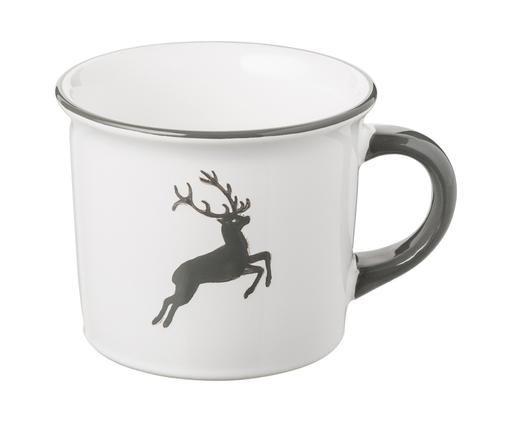 Kubek do kawy Classic Grauer Hirsch, Ceramika, Szary, biały, 240 ml