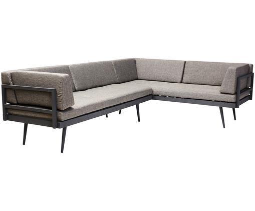 Komplet sof ogrodowych Rio (2-osobowe), Stelaż: aluminium malowane proszk, Brązowy, antracytowy, S 283 x W 80 cm