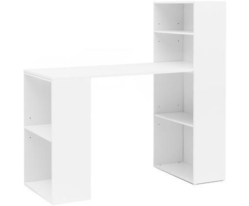 Weißer Schreibtisch Matt mit Stauraum