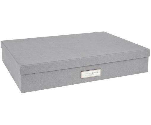 Aufbewahrungsbox Sverker, Box: Fester, laminierter Karto, Organizer außen: Hellgrau Organizer innen: Weiß, 44 x 9 cm