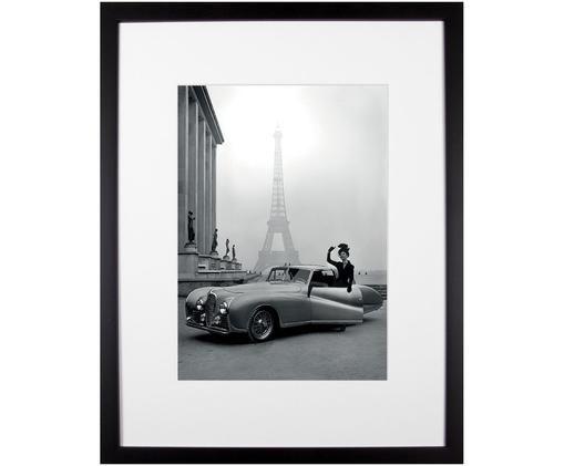 Gerahmter Digitaldruck France 1947, Bild: Digitaldruck auf Papier, Rahmen: Kunststoff (PU), Front: Glas, Rückseite: Mitteldichte Faserplatte , Bild: Schwarz, WeissRahmen: Schwarz, 35 x 45 cm