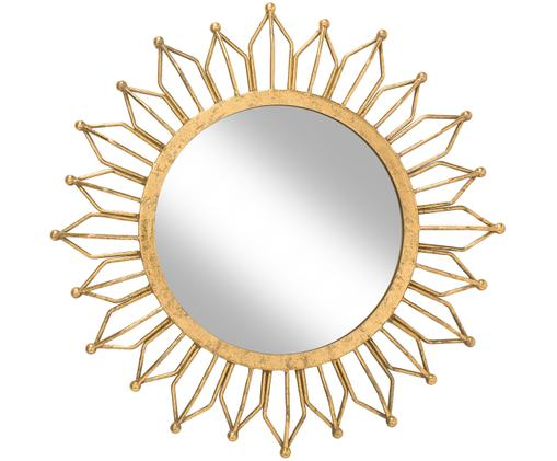 Specchio da parete Ebba, Cornice: metallo, Superficie dello specchio: lastra di vetro, Dorato, Ø 50 cm