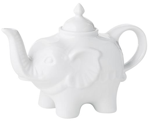Teiera in porcellana Elephant, 820 ml, Ceramica, Bianco, 900 ml