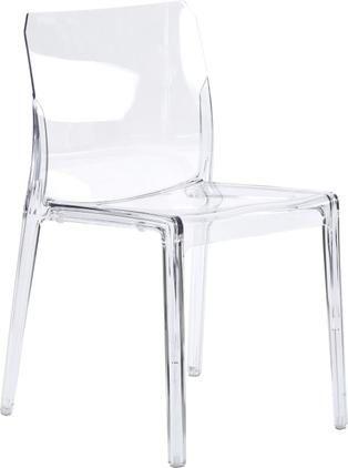 Transparenter Gartenstuhl aus Kunststoff