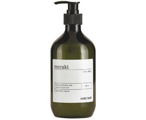 Sapone liquido per le mani Linen Dew (legno & menta), Verde oliva