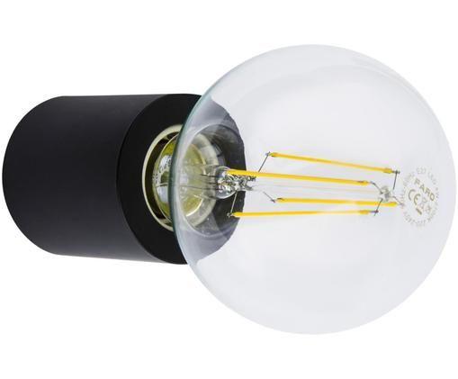 Dimmbare Wandleuchte Multi ohne Leuchtmittel, Aluminium, lackiert, Schwarz, matt, Ø 6 x T 7 cm