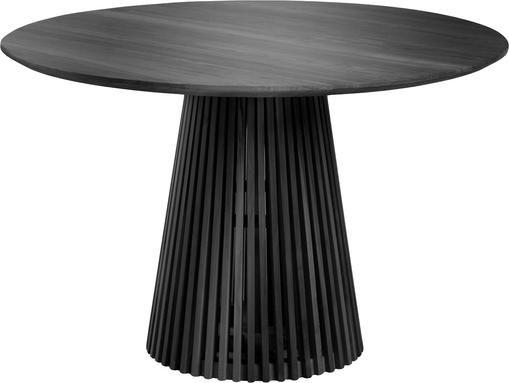 Runder Massivholz Esstisch Jeanette im Skandi Design