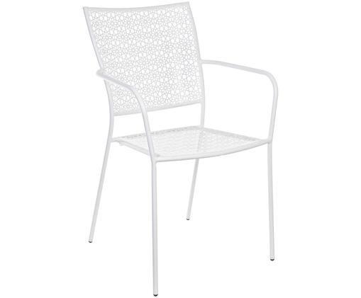Krzesło ogrodowe Jodie, Stal pokryta proszkiem epoksydowym, Biały, 57 x 89 cm