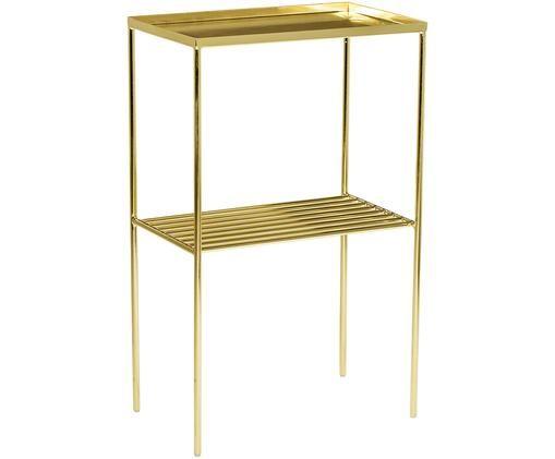 Goldener Beistelltisch Grid aus Metall, Metall, lackiert, Goldfarben, 50 x 80 cm