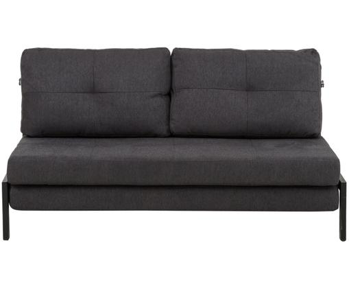 Sofa rozkładana Laura, Tapicerka: ciemnyszary Nogi: czarny