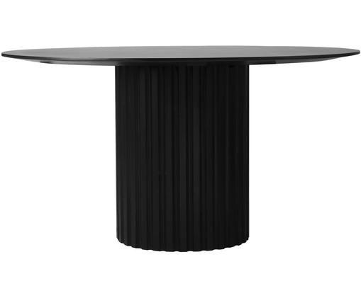 Runder Esstisch Pillar in Schwarz