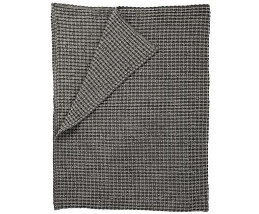 Waffelpiqué-Tagesdecke Kikai in Grau