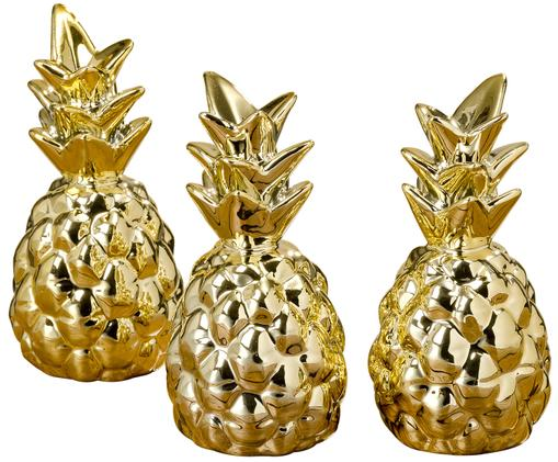 Decoratieve objectenset Golden, 3-delig, Goudkleurig