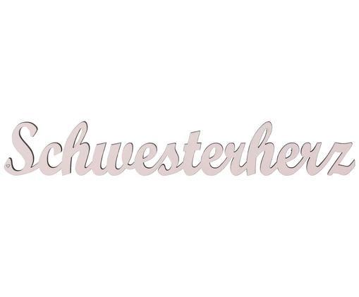 Wandobjekt Schwesterherz, Altrosa