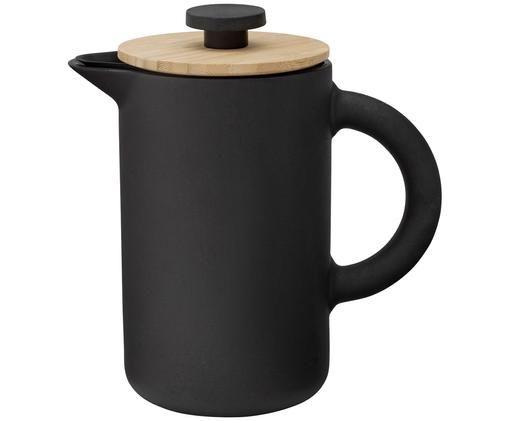 Zaparzacz do kawy Theo, Kamionka, Czarny, matowy Pokrywka: jasny brązowy, 800 ml