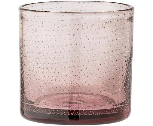 Teelichthalter Mini, Rosa, leicht transparent