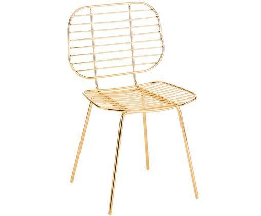 Design-Stuhl Chloé aus Metall, Messing