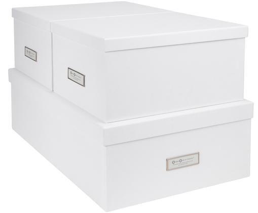 Aufbewahrungsboxen-Set Inge, 3-tlg., Box außen: WeißBox innen: Weiß