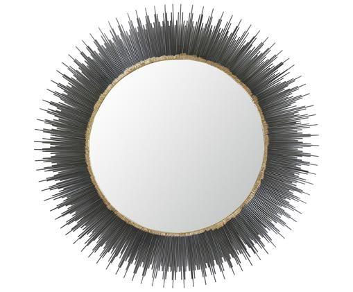 Espejo de pared Pencil, Gris oscuro, dorado