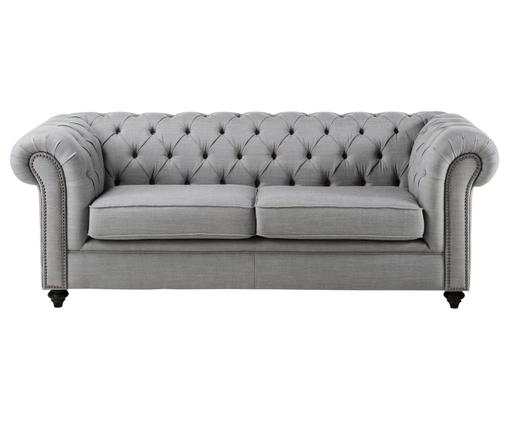 Sofa Chesterfield James (3-osobowa), Jasnoszary