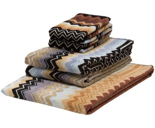 Set asciugamani Giacomo, 5 pz., Cotone, Multicolore, Diverse dimensioni