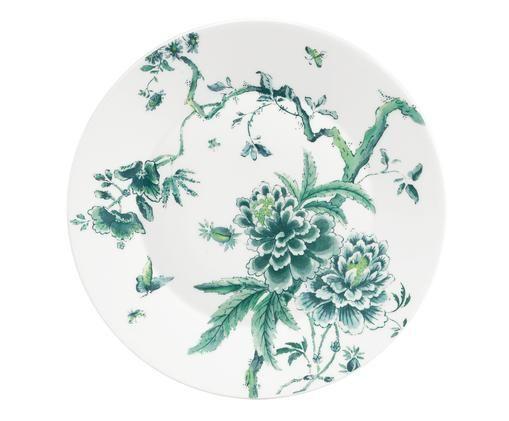 Piatto piano J. Conran Chinoi, Verde, bianco
