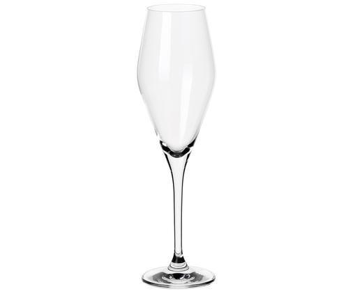 Bauchiges Sekt- und Champagnerglas La Divina, Glas, Transparent, 4 x 25 cm