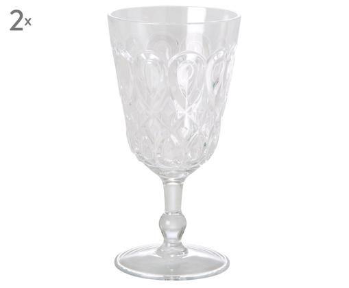 Bicchieri da vino in acrilico Swirly 2 pz, Trasparente