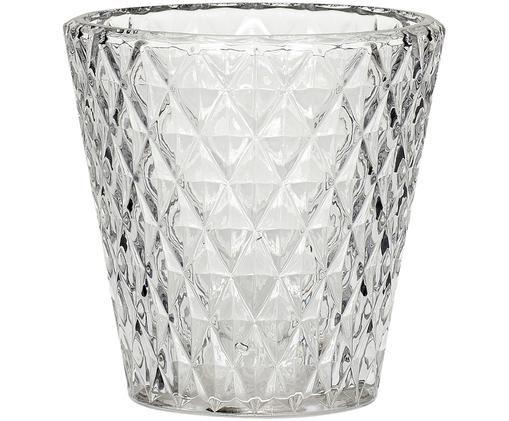 Portavelas Elsa, Cristal, Gris, transparente, Ø 10 x Al 10 cm